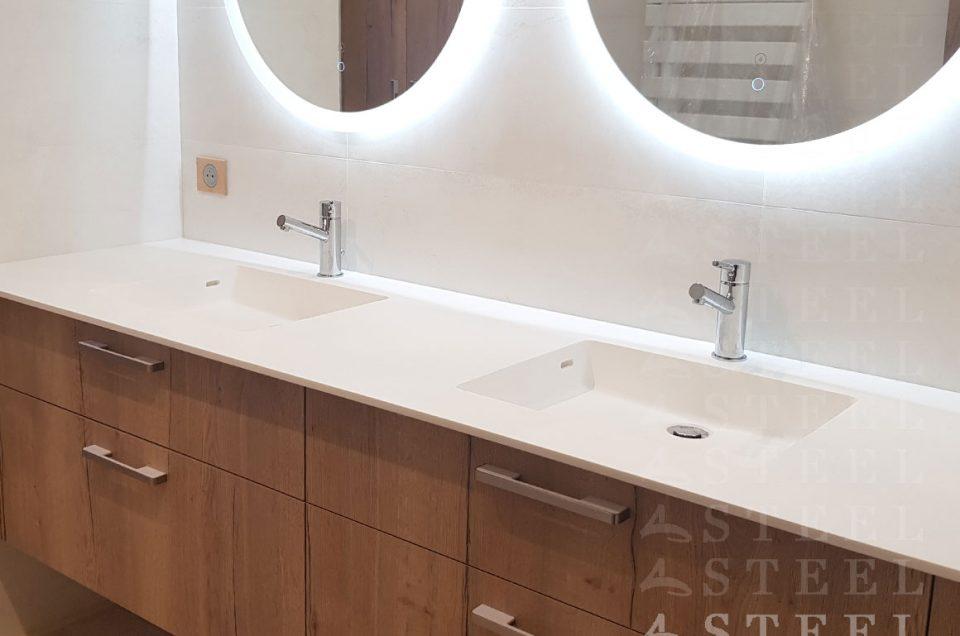 Salles de Bains - Agencement Style meuble bois