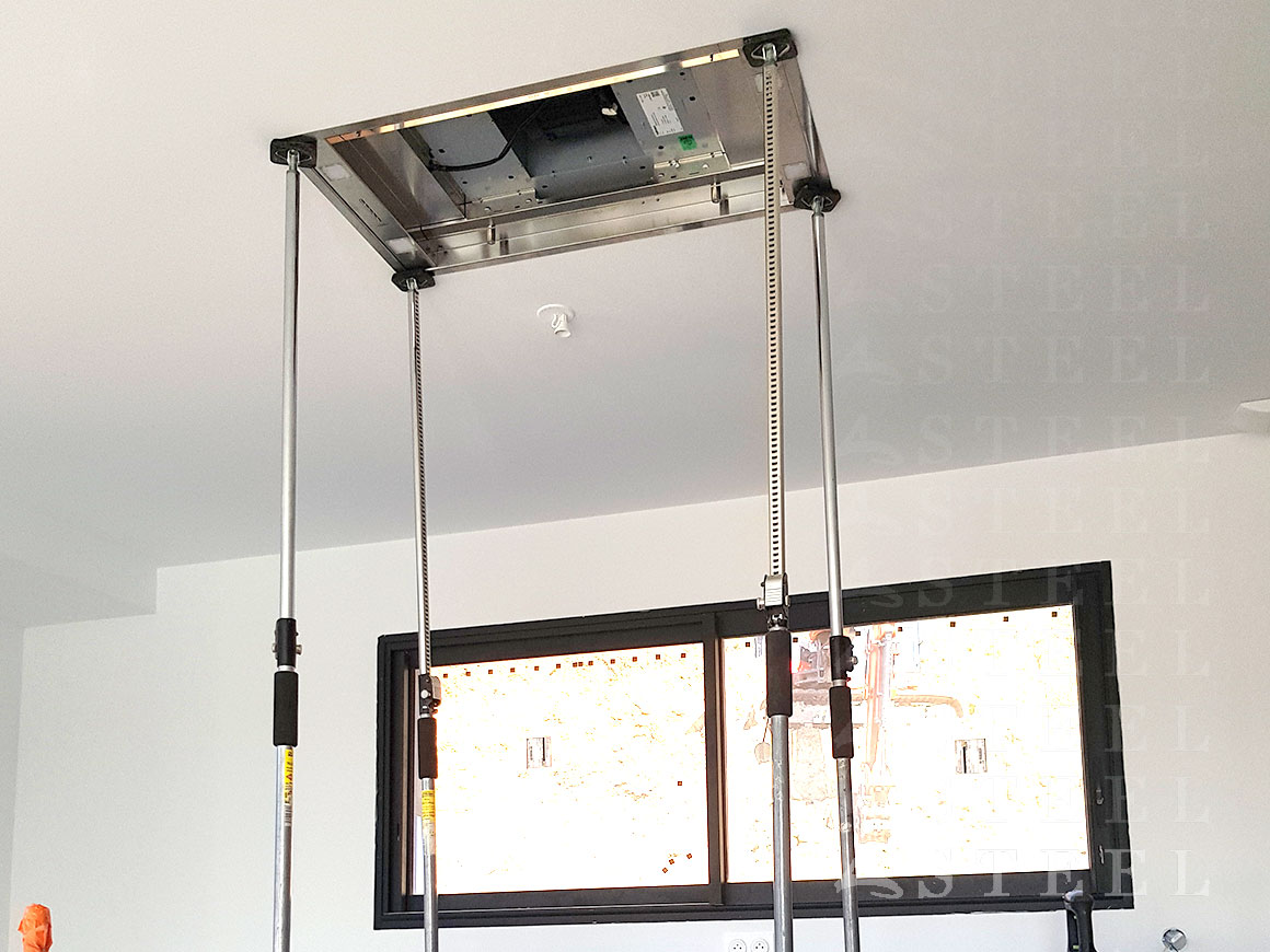 technique installation hot faux plafond