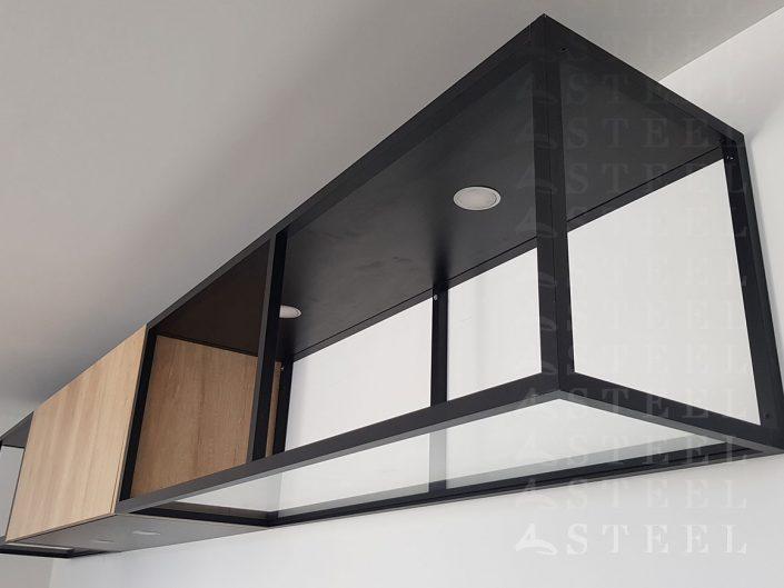 etagere metal style atelier Magasin-CUSINISTE.a.Draguignan.var.provence.style.industriel.bois.metal.noir